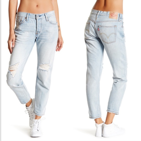 2465a111 Levi's Jeans | Levis 501 Ct Distressed Blue Jean Old Favorite | Poshmark